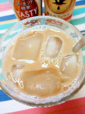 アイス☆アーモンドミルクカフェラテ♪