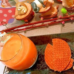 人参と林檎と不知火のヨーグルトスムージー
