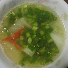 カブの茎と白菜の☆あったかスープ☆