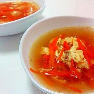 卵と人参☆中華スープ
