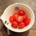 フルーツトマトのガーリックドレッシングあえ