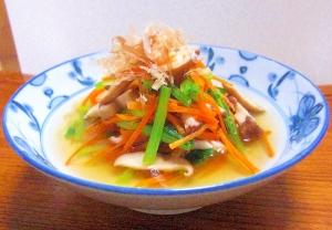 副菜にぴったり 小松菜とにんじんのおひたし