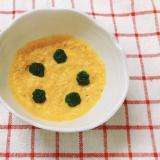 【離乳食中期】かぼちゃと豆腐のほうれん草のせ