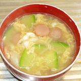 ズッキーニと卵のスープ