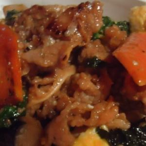 バジルでサッパリ 牛野菜炒め