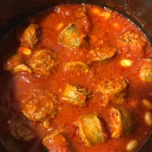 生フランクのトマト煮
