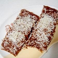 電子レンジで簡単チョコ蒸しケーキ