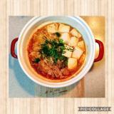 豚バラキャベツのピリ辛鍋