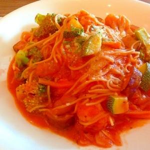 野菜たっぷり♫エンジェルヘアでパスタ・プリマベーラ