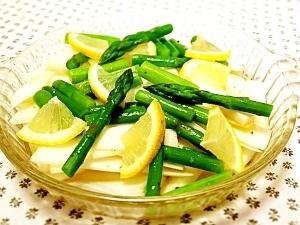 春のサラダ!うど&グリーンアスパラのサラダ
