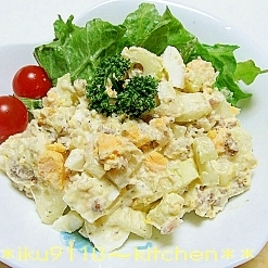 ミートマッシュポテト deセロリの卵サラダ