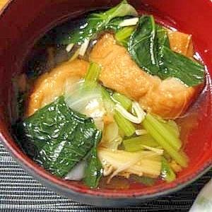 小松菜と仙台麩の吸い物