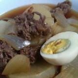 めんつゆで簡単!大根と牛肉の煮物