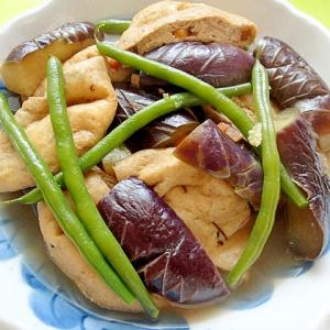 茄子とがんもどきインゲンの煮物