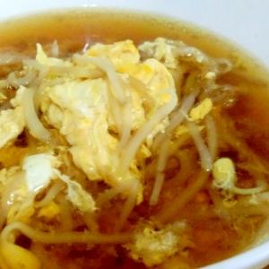 もやしたっぷり中華風たまごスープ