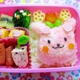 女の子のお弁当~3Dうさぎ弁~