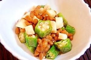 話題の醤油麹で、納豆、オクラ、山芋のねばねば和え