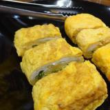 日本酒がすすむ、鱧と九条ねぎの卵焼き
