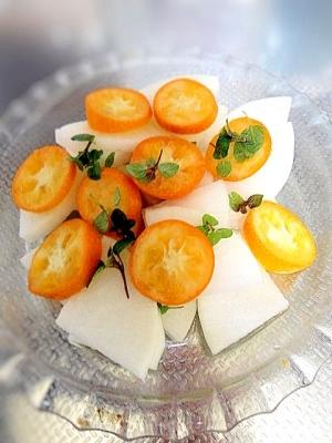 金柑と大根のサラダ