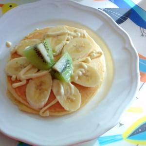 バナナとキウイのマヨホットケーキ