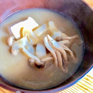冷凍庫のお掃除☆凍らせ豆腐と干ししめじのお味噌汁