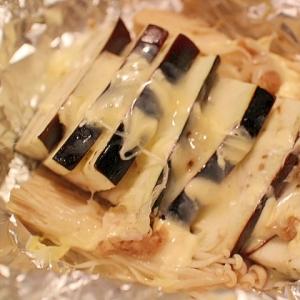 【簡単】チーズがとろけるナス味噌のホイル蒸し