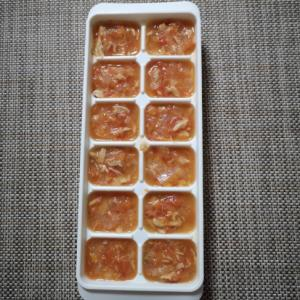 【離乳食中期】ツナとトマトと玉ねぎの煮込み