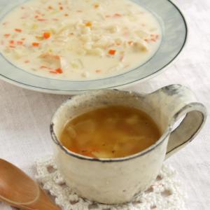 【一つの鍋で二種類作る】野菜スープとミルクシチュー