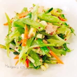 ブロッコリーの茎のコクうまツナサラダ