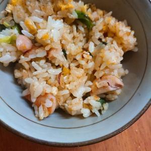魚ソーと青ネギの炒飯