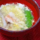 来客用のご馳走汁物☆ カニ缶で「かき玉汁」