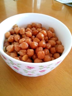 簡単。ダイエット中でも満腹。のひよこ豆の甘煮♪