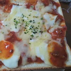 ミートソースで…ピザパン