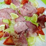 豚タンとレモンレタスのサラダ