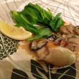 牡蠣のオリーブオイル漬け
