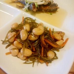 きざみ昆布と大豆の煮物