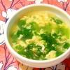 セロリの葉と卵のスープ