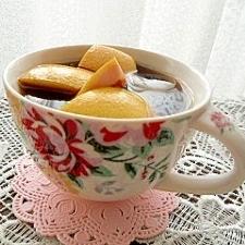 グレープフルーツの皮を入れたコーヒー