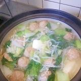 野菜と肉団子の中華スープ風鍋