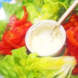 【簡単】クリーミードレッシングのサラダ菜サラダ