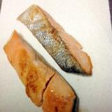 クックパーで鮭の塩焼き
