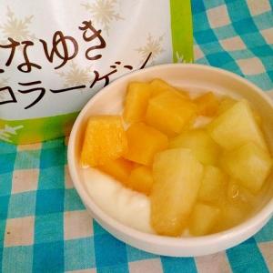 パイナップルとメロンのヨーグルト♡