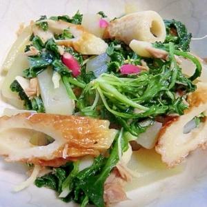 ナンプラー料理 間引き大根菜+ツナ缶など和食材で