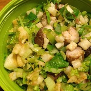 サバと半端野菜の塩炒めどん。