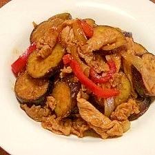 茄子と豚肉のケチャップ炒め