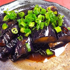 茄子のピリ辛醤油炒め