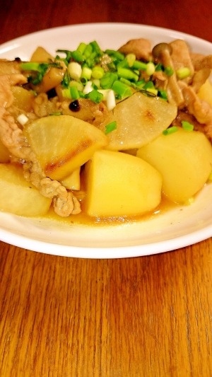 簡単和食 豚と大根の炒め物