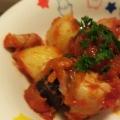 鶏もも肉とじゃがいものトマト煮込み