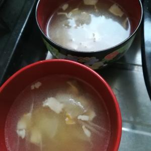 ベーコン香るコンソメスープ
