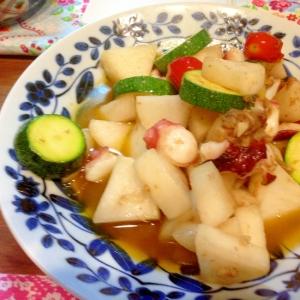 夏野菜のアンチョビ炒め